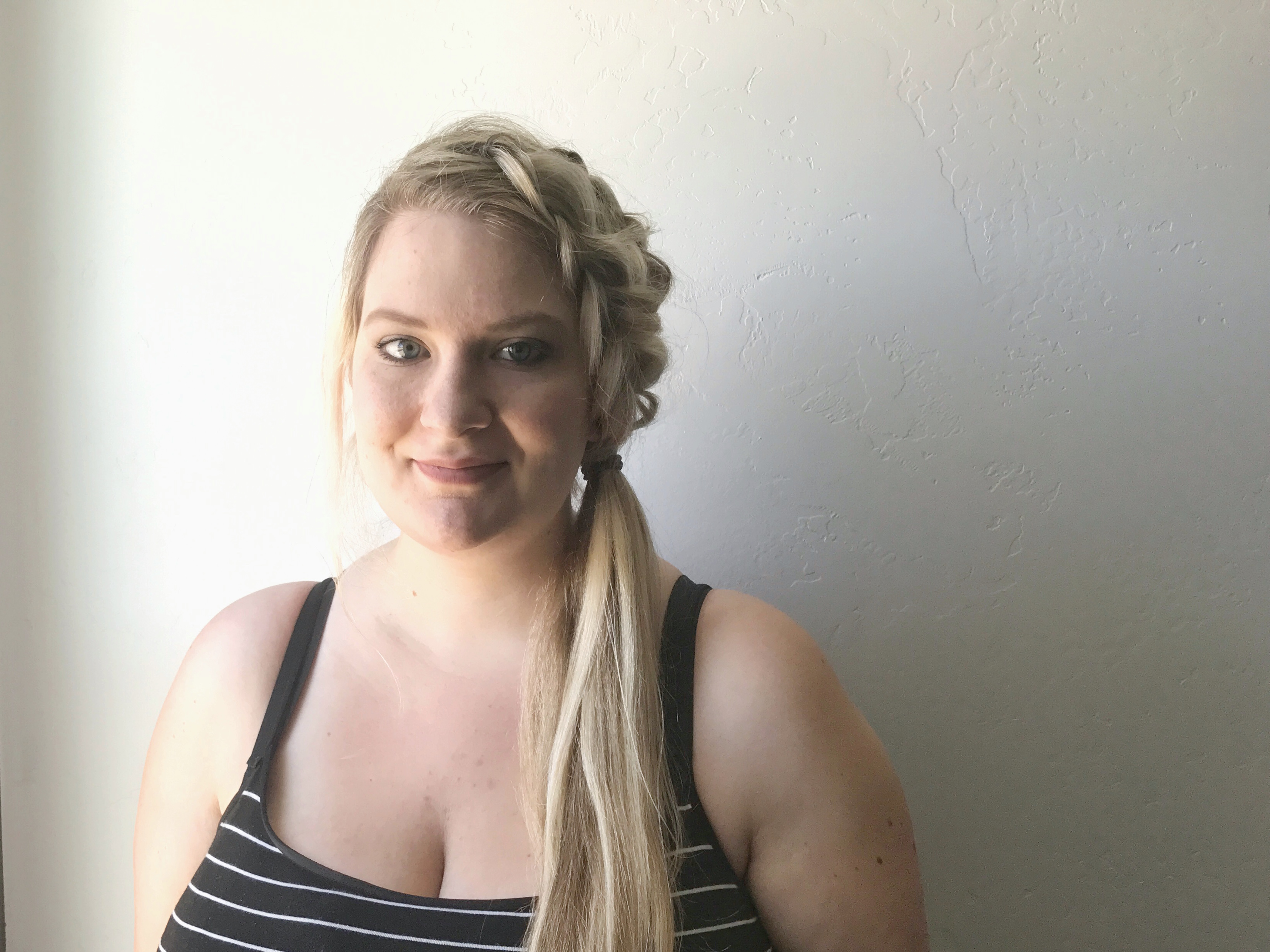 Double Braid Side Pony by Onyx and Blush