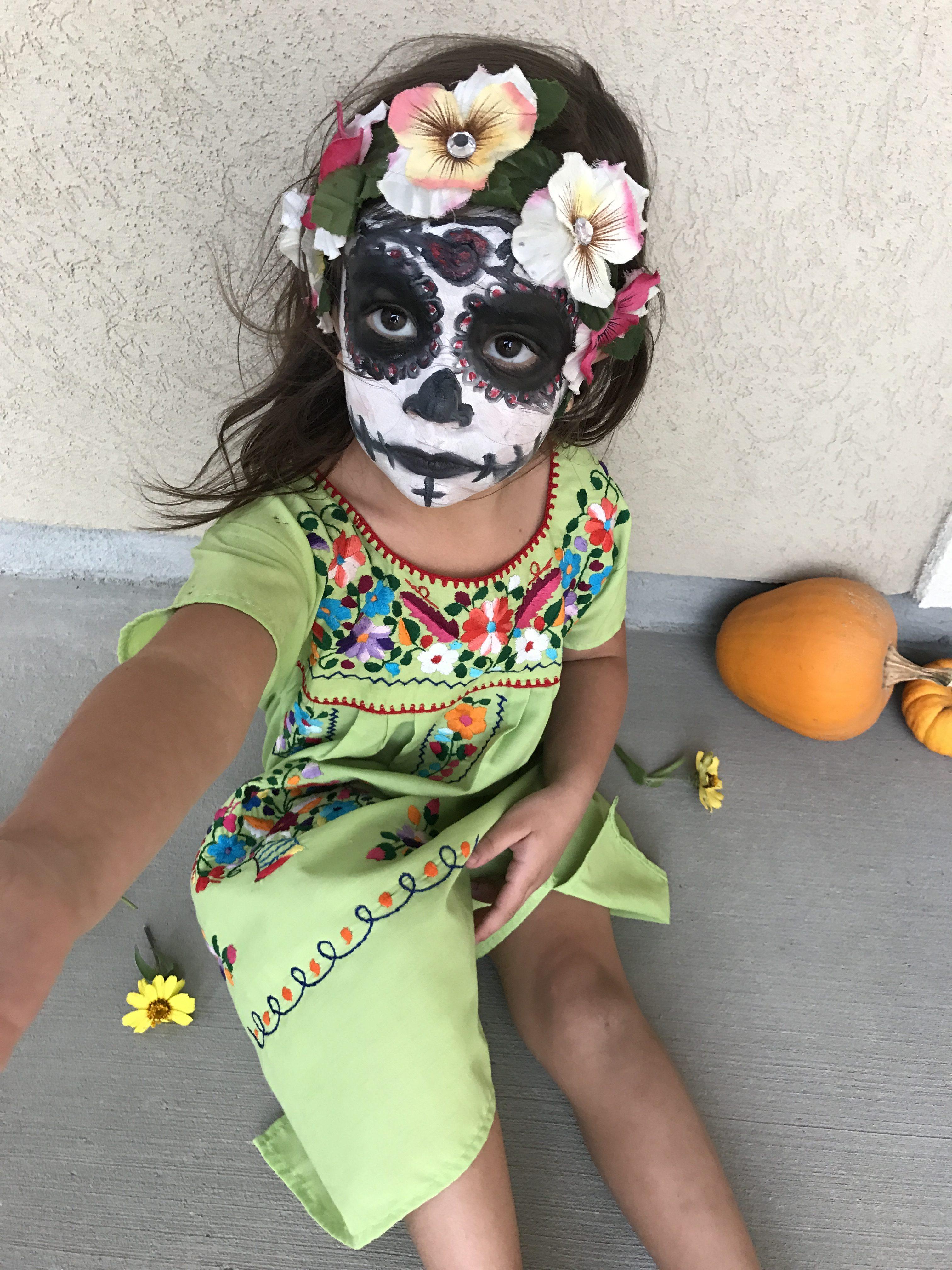 Dia De Los Muertos Makeup for Girls