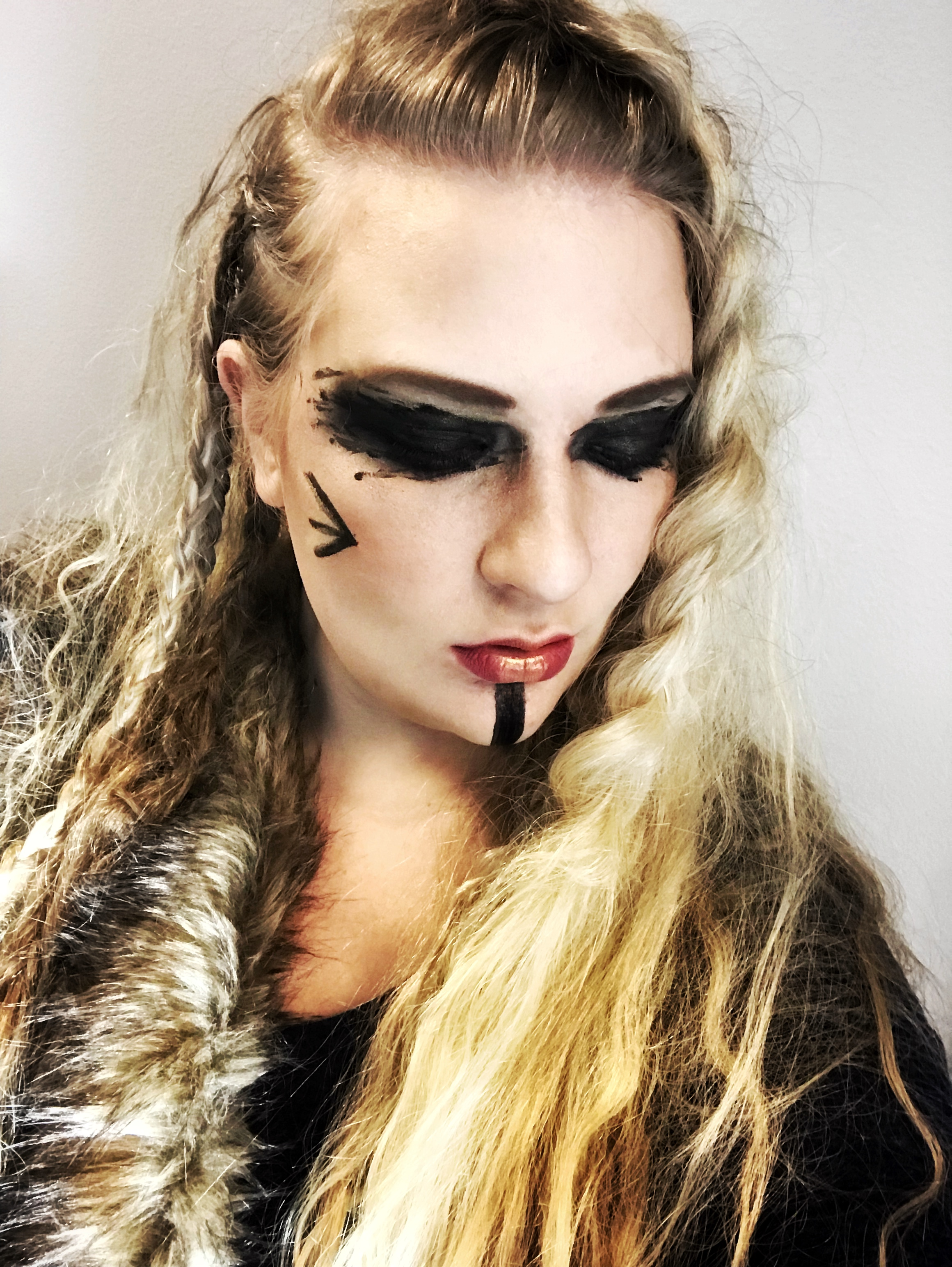 Lagertha inspired viking hair and makeup